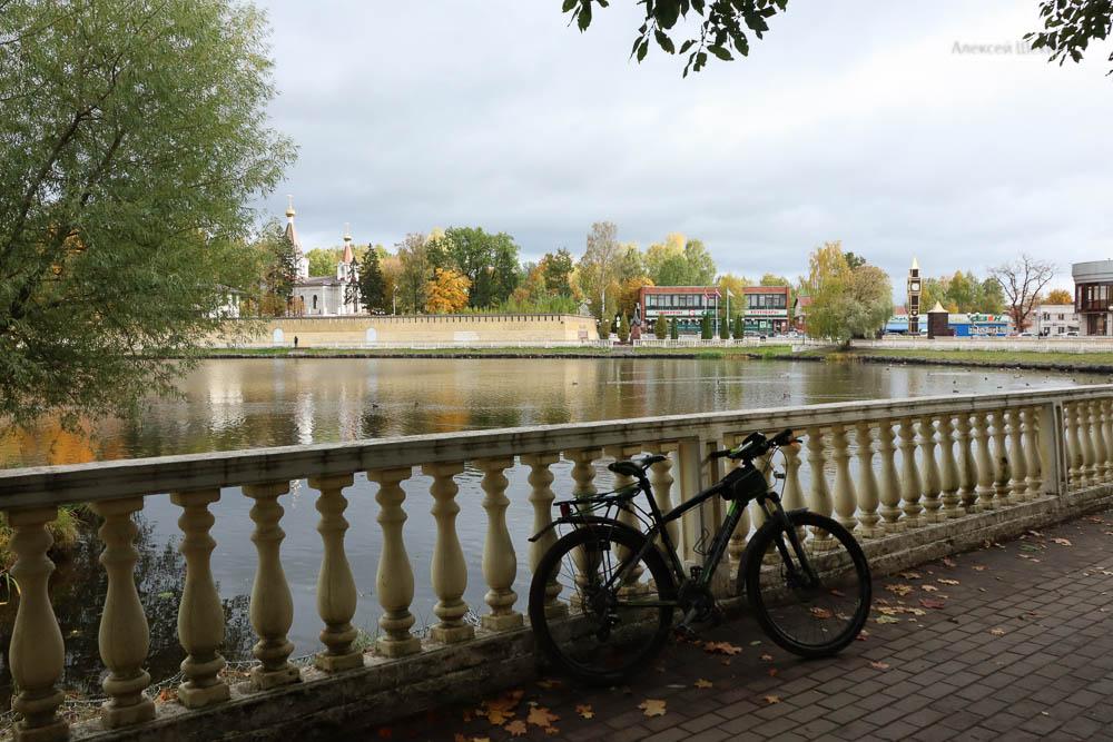 Город Колтуши проездом на велосипеде